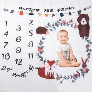 Baby MileBaby milestone blanket newborn photo animal bear background cloth baby photography props 832 X2