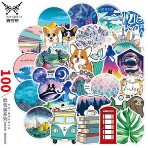 100 Xiaoqingxin Cartoon Graffiti Stickers Trunk Electric Refrigerator Guitar Pvc Waterproof AY02723