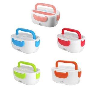 Vodool Portable Electric Riscaldamento Riscaldamento Lunch Box Bambini Baby Car Travel Food Riscaldatore Contenitore Riso Scaldatore 110 V / 220V 1.05L per auto per la casa