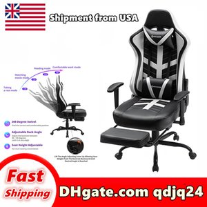 High chair furniture grade office product swivel computer desk backrest adjustable height play stool Shipment in US warehouse E-sports games
