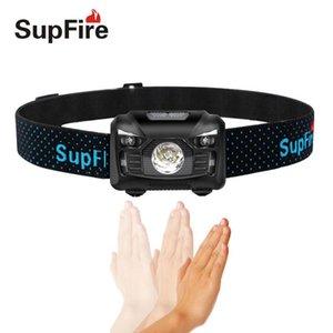 Bike Lights Headlamp Flash Light Linterna LED Supfire HL06 USB On The Head Torch For Olight Surefir Nicron A047