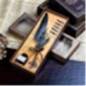 Zwn Blue Peacock Mechanische Punk Pinsel und Wasser WG getaucht Wasser Tinte Werbung Brunnen Stifte Geschenk Feder Stift Set