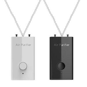 Air Purifiers 2 Pcs Hanging Neck Purifier Personal Wearable Mini Portable Negative Ion Necklace