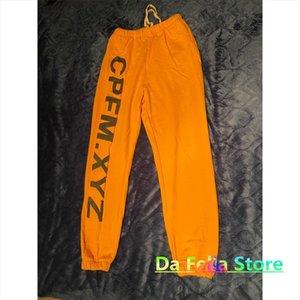 20fw Cpfm Women Xyz Pant Letters Logo Printed Sweatpants High Quality Cactus Plant Flea Market Trousers Asian Size