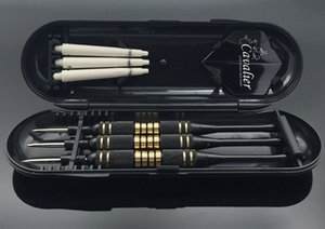 3pcs set Professional Darts Free Carry Box 24g 25g Black Golden Color Steel Tip Darts With Brass Darts Shafts