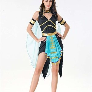 Dresses Casual game uniform costumes for Halloween party Queen Cleopatra stage costume