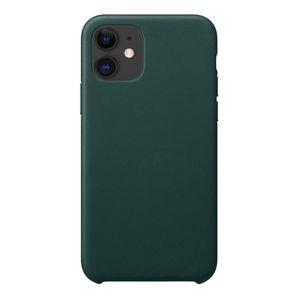 iPhone 11 Pro Max Кожаные чехлы Бренд черный Зеленый подлинный защитный чехол из микрофибры подкладки с утолщением противоударный дизайн
