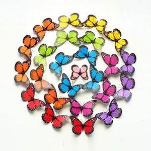 12cm 3D Colorful Butterfly Wall Sticker Tags Fridge Magnet Home Decor Art Applique - Pink