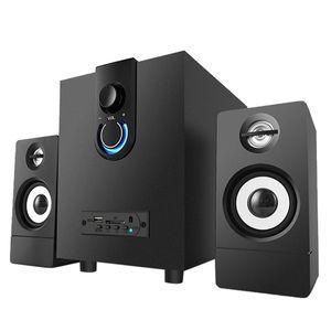 Wooden 2.1 Multimedia Speaker System Super Subwoofer Bluetooth Audio USB Power Notebook Portable Speakers
