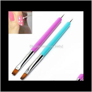 2 Ways Nails Art Pen Painting Acrylic Uv Gel Polish Brush Liners Wholesale Arrival 2N8Vk Xtrhj