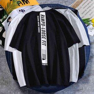 Short Half Sleeve Summer Cotton Korean Fashion 2021 Loose Top Men's Tmen's T-shirt