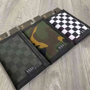 2021 Fanjia Street Fashion Card Model Three Color Checkerboard Camouflage Men's and Women's Functional Small Walletwallet