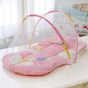 Portable foldable mosquito polyester born crib bed nets summer travel play tent for children