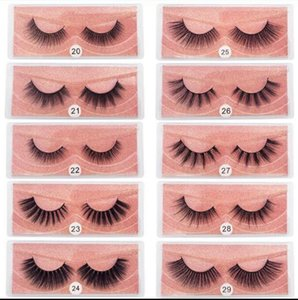 quality 3D Mink Eyelashes Wholesale Natural False Eyelashes 3D Mink Lashes Soft Make Up Extension Makeup Fake Eye Lashes 3D Series
