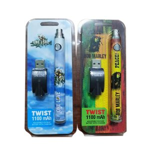 Colorful Printing Twist Battery 900mAh Vape Pen Adjustable Voltage Batteries USB Charge Port IN Stock