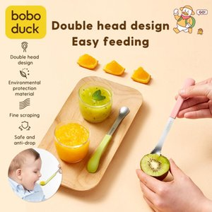 Spoon Baby Children's Tableware Sippy Scraper Apple Puree Set Complementary Double-headed Fruit To Cups, Dishes & Utensils
