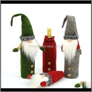 Christmas Wine Cover Handmade Swedish Tomte Gnomes Santa Claus Bottle Toppers Bags Holiday Home Decorations Ewc2979 Wirkf Zum4C
