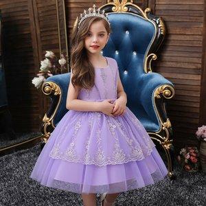Kleinkind-Kleid mit Tüllrock lila Kinderkleider für kleine Mädchengröße 2t bis 10t