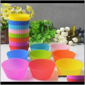 Moulds Mold Tray Jumbo Cookie Baking Molds 7Cm Sile Muffin Cupcake Cup Cake Mould Case Bakeware Maker Dh0227 Ukq8T Hqewi