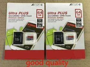 DHL-Versand Hohe Qualität Neue Ultra A1 32 GB / 64GB / 128 GB / 256 GB SDK Micro Memory SD-Karte 100MB / s UHS-i C10 TF-Karte mit Adapter