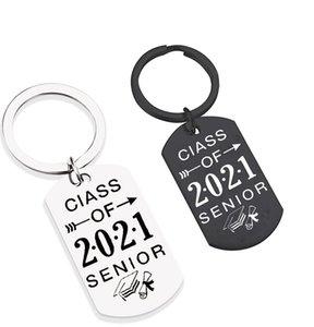 Keychain Europe America Klasse von 2021 Mode Abschlusszeit edelstahl Keychain Pirational Souvenir DIY Anpassbare Großhandel