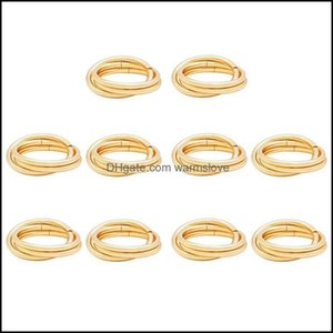 Decoration Aessories Kitchen, Dining Bar Home & Gardenpcs Circle Napkin Rings Round Holders Buckles For Wedding, Dinner Party, Table Decorat