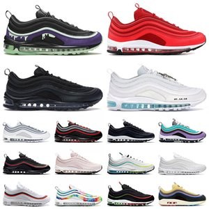 Nike Air Max Airmax 97 OFF White MSCHF x INRI Jesus UNDEFEATED UNDFTD Have a Nike day حذاء جري نساء  بلاك بوليت ثلاثي ابيض بنفسجي ستار جيم ريد   أحذية رياضية للرجال للسيدات في اله