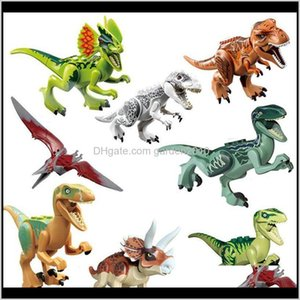 Novelty Items Décor Home Garden Drop Delivery 2021 Jurassic Park Dinosaur Figures Velociraptor Tyrannosaurus Rex Building Blocks Toy Bricks K