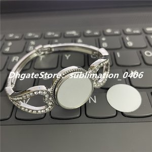 Sublimation Noosa Button Stainless Steel Bracelet Jewelry Wristband Bracelets with Snap Buttons and aluminum sheet