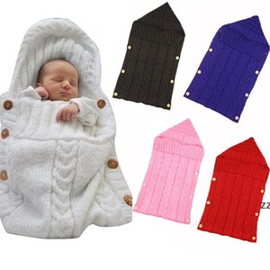 Newborn Baby Wrap Swaddle Blanket Knit Sleeping Bag Receiving Blankets Stroller Wraps For Babys (0-6 Month) HWD10898
