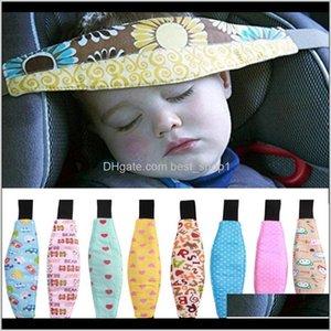 Strollers Baby Pram Fastening Belt Adjustable Stroller Sleep Positioner Kids Car Safety Support Kid Head Band Accessories Dh Odg7L