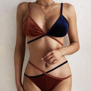 Style Bikini Suit#451 Wave Splicing Cup Split Cover-up Swimsuit Beachwear High Waist No Steel Support Youth Sexy Female Bikini