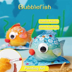 Children's fish bubble balls, kindergarten art paintings, handicrafts, educational toys, decorations and gifts.