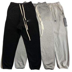 Calças de Algodão Calças Calças Calças De Manhã Ao Ar Livre Corredores De Fitness Trilha Pant Moda Carta Impresso Homens Mulheres Casual Calça Casual