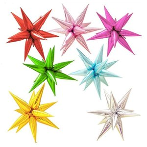 12pcs balloon Explosion Star Birthday Opening Ceremony Wedding Decoration Water Drop Cone Foil Balloons Party Supplies UPYC