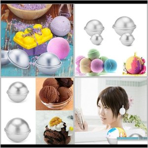 Bakeware Kitchen Dining Bar Home Garden Drop Delivery 2021 3D Aluminium Alloy Cake Bath Bomb Baking Moulds Roast Ball Mold Own Crafting Handm