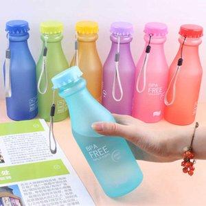 Creative Color 550ml Fosco Garrafa Frigerada Plástico Portátil Estudante Elegante Adulto Esportes Viagem Garrafa de Água Apropriado e Prático