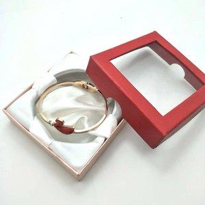 12 stücke Schmuck Charm Armband Armbanduhr Geschenkboxen Hüllen Display Box 85x85x25mm mehrere Farben, die zufällig geliefert werden 212 W2