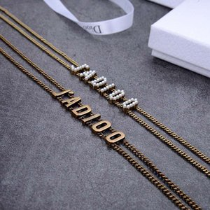 d Family   Dijia Six Letter Bronze Necklace [classic] Pearl Collar