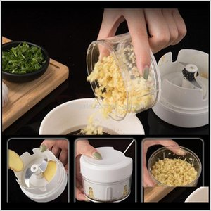 Tools Meat Grinder Chopper Onion Slicer Cutter Garlic Pressers Vegetable Fruit Twist Shredder Multifunction High Speedy Manual Bh3054 I6Stv