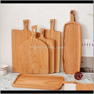 Blocks Knives Accessories Kitchen Dining Bar Garden Drop Delivery 2021 Squre Kitchen Chopping Block Wood Home Cutting Board Cake Serving Tray