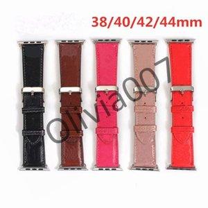 2021 V designer Watchband iWatch Band 42mm 38mm 40mm 44mm iwatch 2 3 4 5 bands Leather Strap Bracelet dropshipping O07