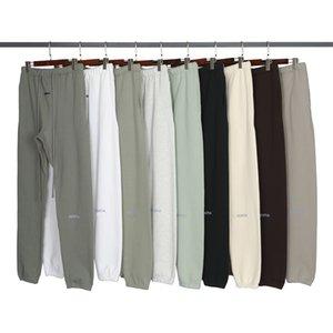 Automne hiver USA 3M Pantalons réfléchissants Pantalons décontractés Matcha Vert Coffee Brown Cordon Sweatching Hommes Femmes Jogger