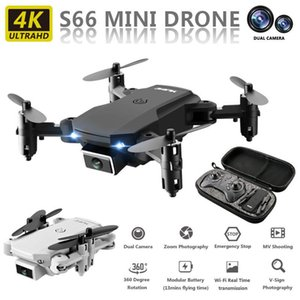 Drones 2021 Mini S66 Drone 4K HD Camera WiFi Fpv Air Pressure Altitude Maintenance 15 Min Battery Life Foldable Quadcopter Gift