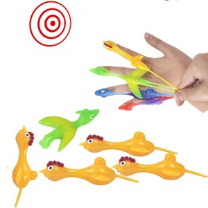 Novelty Finger toy Games Special Interesting Ejection Turkey Trickery Fun Decompression Launch Chicken TPR soft Material Fingers Catapult