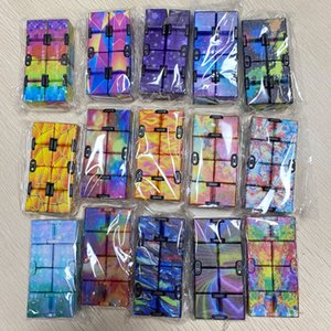 DHL Fast Party Favors Infinity Magic Cube Creative Galaxy Fitget toys Antistress Office Flip Cubic Puzzle Mini Blocks Decompression Toy CY27