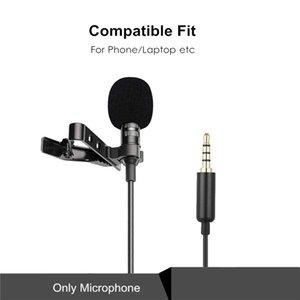 1.5m Mini Portable Lavalier Microphone Condenser Clip-on Lapel Mic Wired Mikrofo Microfon for Phone Laptop PC