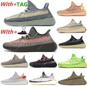 Yeezy 350 V2 Kanye Hombres Mujeres Zapatos para correr Tail Light Zyon Zebra Cinder Yecheil Israfil Asriel Clay Linen Zapatillas de deporte
