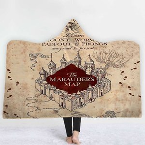 Scarves Harry Potter printed Cape hooded shawl lazy air conditioning blanket