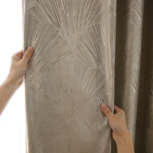 Curtain & Drapes Curtains For Living Dining Room Bedroom High-end Jacquard Ginkgo Light Luxury American Modern Chinese
